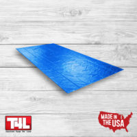 12′ X 25′ Steel Tarp – 1 row blue